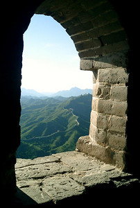 The Great Wall of China near Simatai, Beijing, China.  Pedro Mendoza and Rob Page traveled here together.  August 4, 2004 Copyright Robert Page III