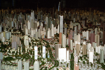This is the world's largest architechtual model.  It is located inside the Shanghai Urban Planning Exhibiton Hall in the middle of the People's Square. ... August 7, 2004 ... Copyright Robert Page III