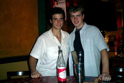 Pedro Mendoza and Rob Page in a bar on Lan Kwai Fong in Hong Kong, China. ... July 30, 2004 ... Copyright Robert Page III