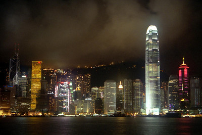 The Hong Kong Skyline from Kowloon. ... July 28, 2004 ... Copyright Robert Page III