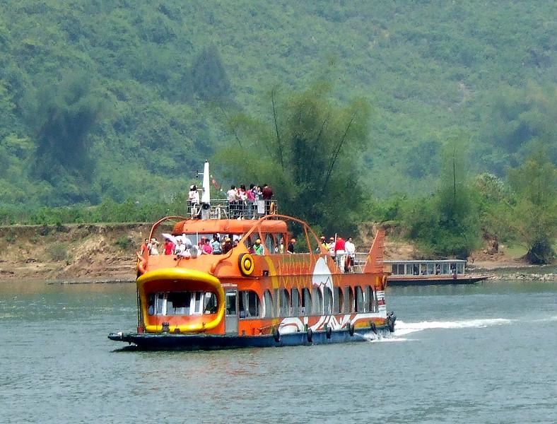 Tour boat on the Li River