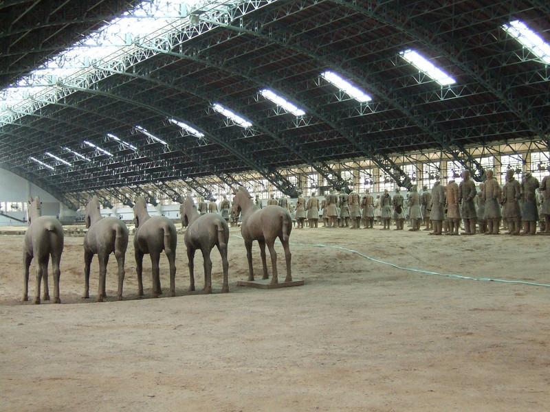 Terra-cotta Warrior Repair Area with Horses