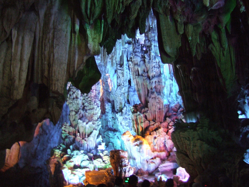 The Morning Sunrise Over the Lion Jungle - scene in Reed Flute cave - Guilin
