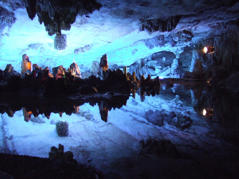 Reed Flute Cave Crystal Palace and reflections