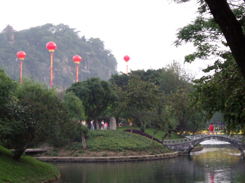 National Labor Holiday Festive atmosphere at the Guilin Park