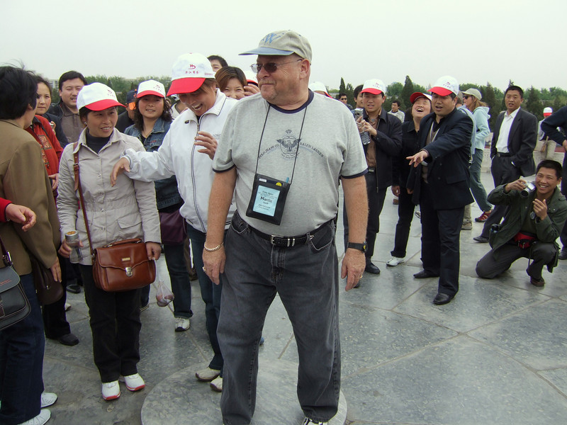 Tourist at the Temple of Heavenly Peace