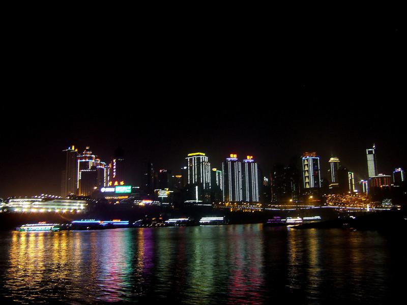 Chongqing Harbor at night