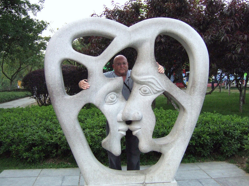 Tourist at the Guilin Park
