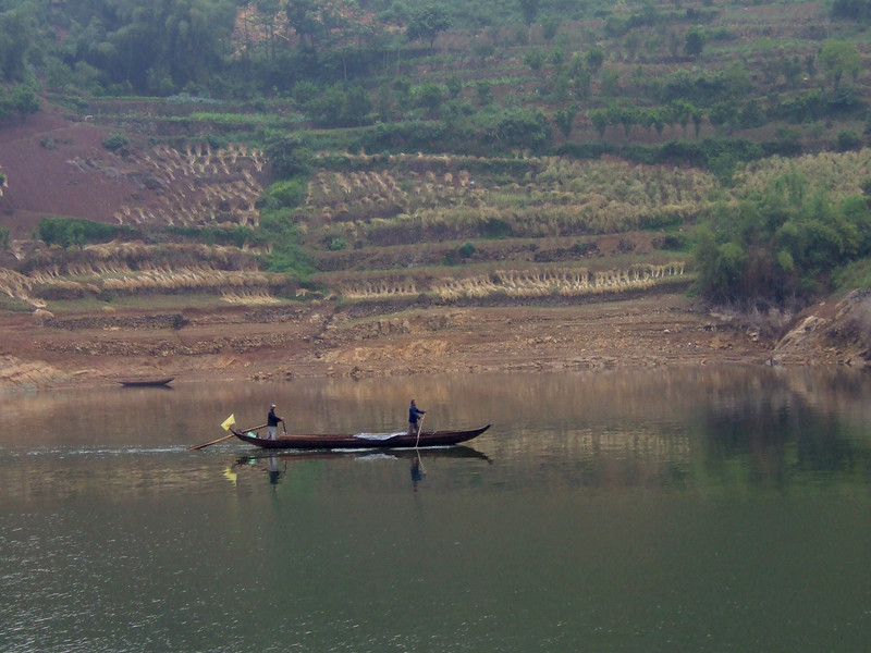 Local Farmers on the Yantze in the Wu Gorge