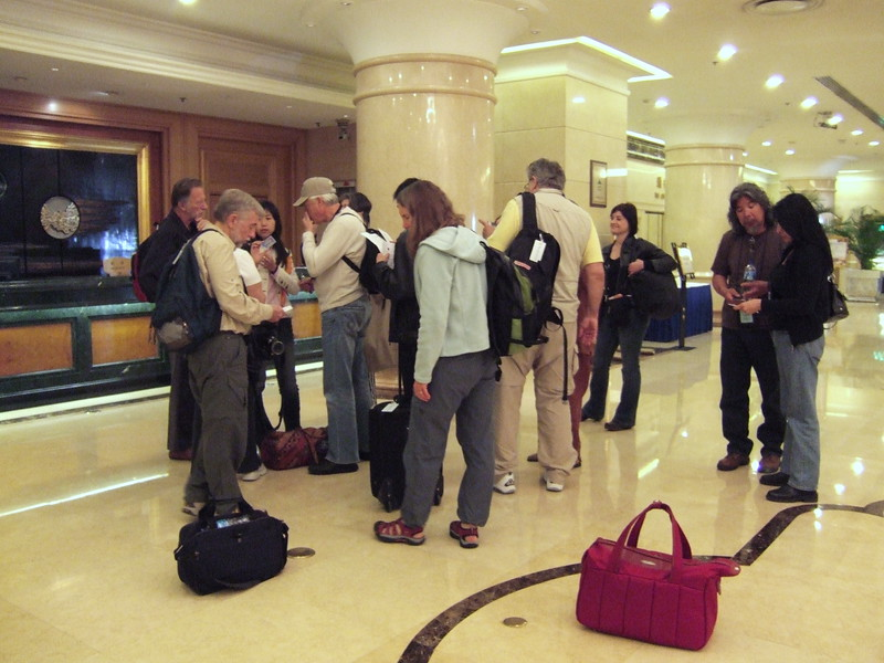 Beijing - The China Family checking into the Beijing Grand Metro Park Hotel