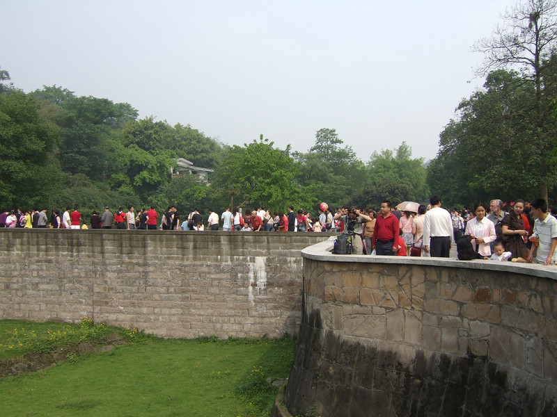 Chongqing Zoo crowds on the first day of the Chinese May Labor Holiday