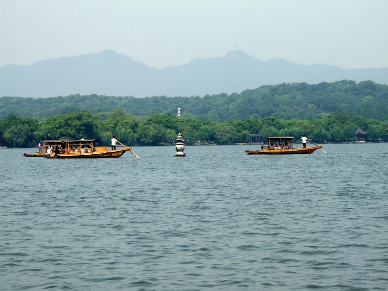 Boats on West Lake - Hangzhou