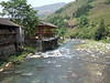 Stream and new construction of the Yao people near Guilin