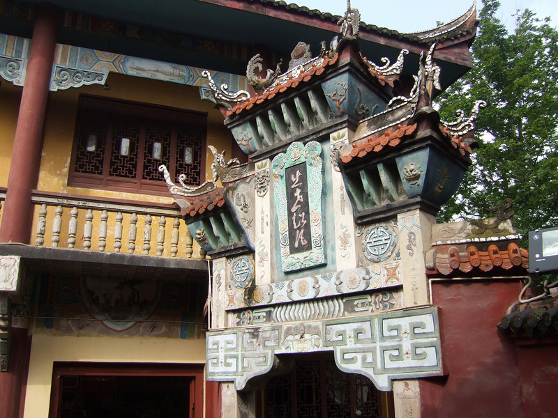 Ornamental work at Feng-Du - the Ghost City
