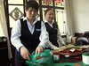 Longjing Green Tea - Emperor Grade being packed