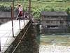 Foot bridge to the Yao poeple village