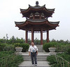 Tourist at the Goose Pagoda Gardens in Xian