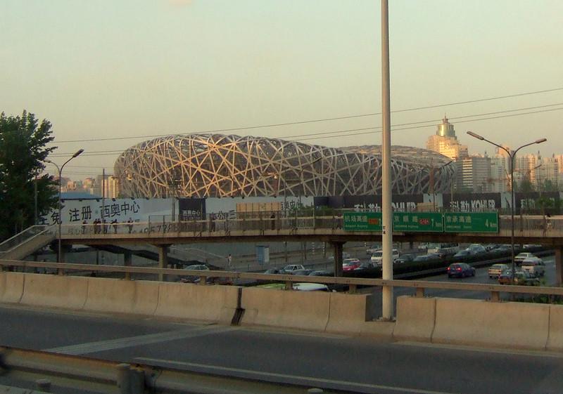 Olympic Statium under construction in Beijing