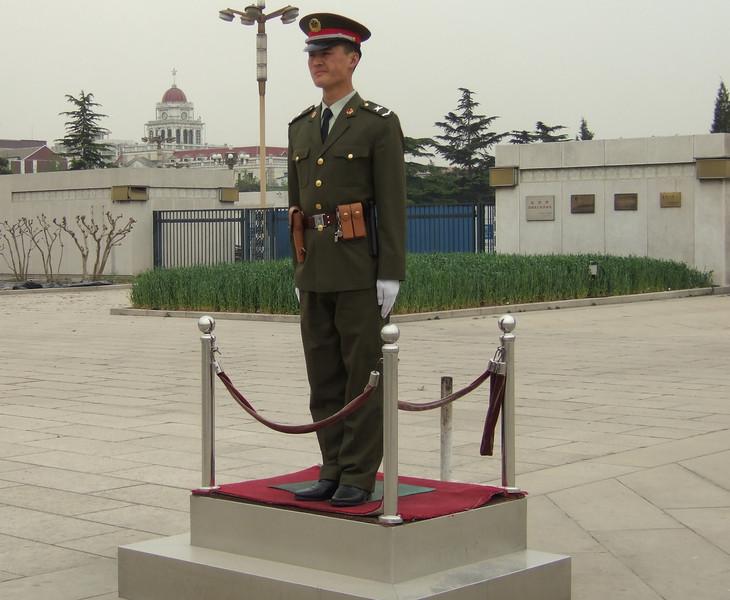 Standing Guard in Tiananmen Square