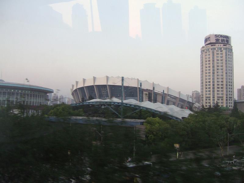 Stadium that Seats 80,000 in Shanghai