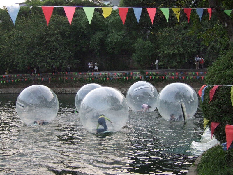 Water toys for the kids at the Guilin Park