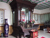 Inside a building on the Goose Pagoda grounds