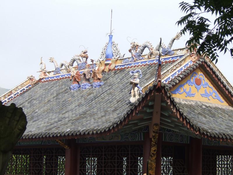 Decorative roof treatment at Feng-Du