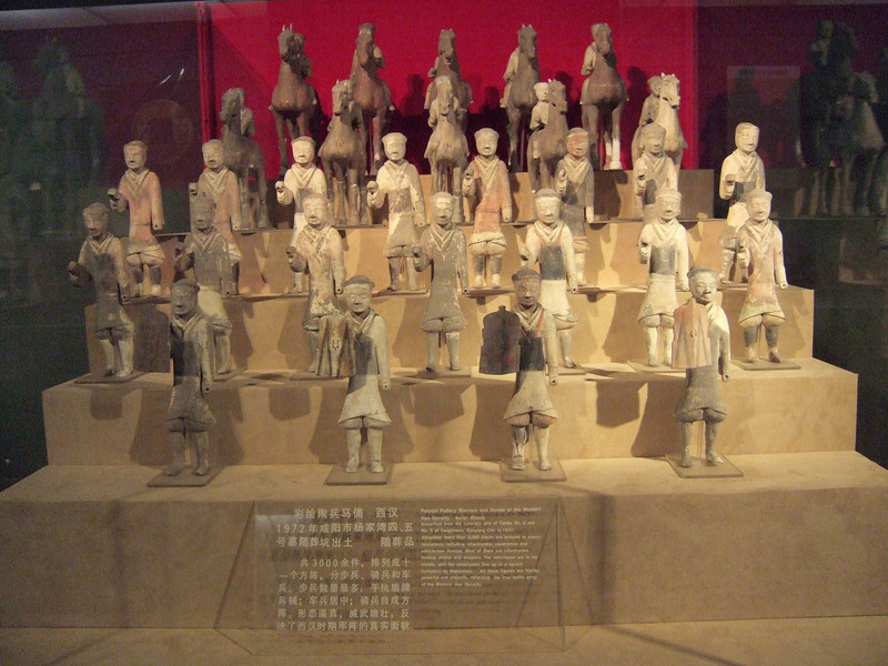 Painted Pottery Warriors and Horses of the Western Han Dynasty