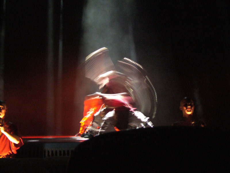 action shot at the Kung Fu show