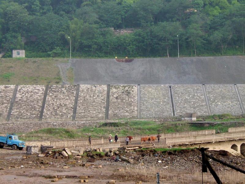 Taking the Water Buffalo tot work across Qutang Gorge