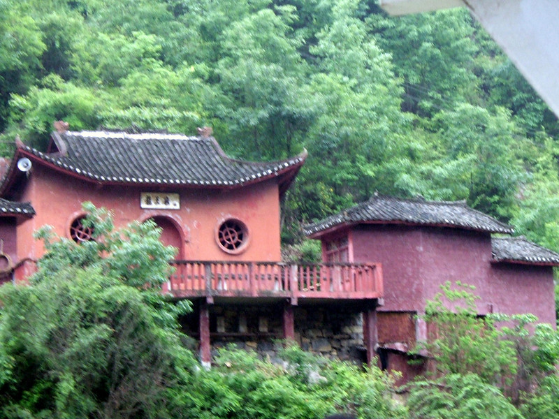 Red Dragon Temple in Wu Gorge area