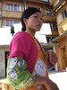 """Our lunch waitress - Zhuang """"Drum"""" people village resturant"""