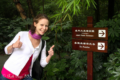 Emily knows there are pandas nearby - Chengdu, China ... October 5, 2012 ... Photo by Rob Page III