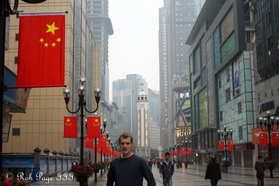 Rob enjoying the city - Chongqing, China ... October 6, 2012 ... Photo by Emily Page