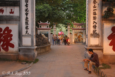 In front of the Huc Bridge on Hoan Kiem Lake - Hanoi, Vietnam .... October 11, 2012 ... Photo by Rob Page III