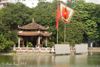 The Temple of the Jade Mountain, Đền Ngọc Sơn, on Hoan Kiem Lake - Hanoi, Vietnam ... October 11, 2012 ... Photo by Rob Page III