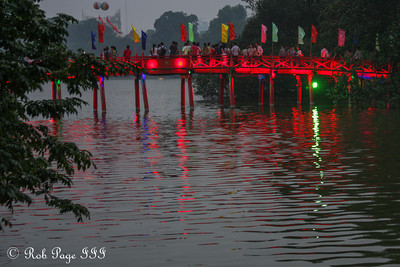 The Huc Bridge on Hoan Kiem Lake - Hanoi, Vietnam .... October 11, 2012 ... Photo by Rob Page III
