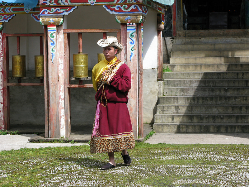 The Monk at the Yak Meadow Temple