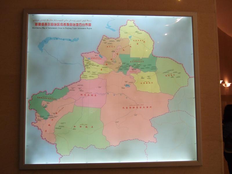 Xinjiang Autonomous Region Map