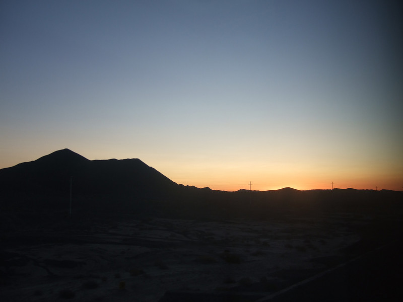 Sunrise from the Sleeper Train to Dunhuang