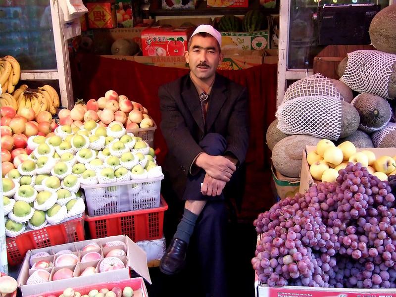 Street vendor in Urumqi