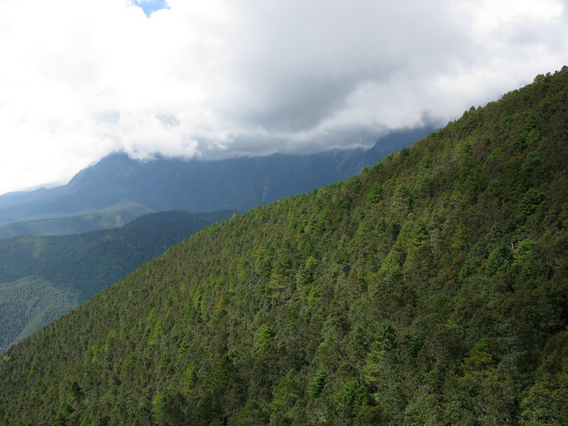 Mountains from the Cable Car - Lijiang