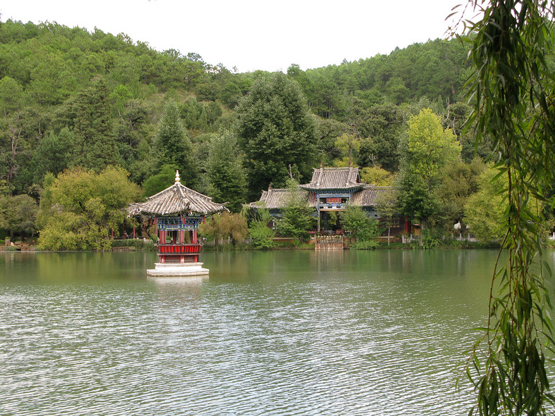 Longevity Pavilion across Black Dragon Pool