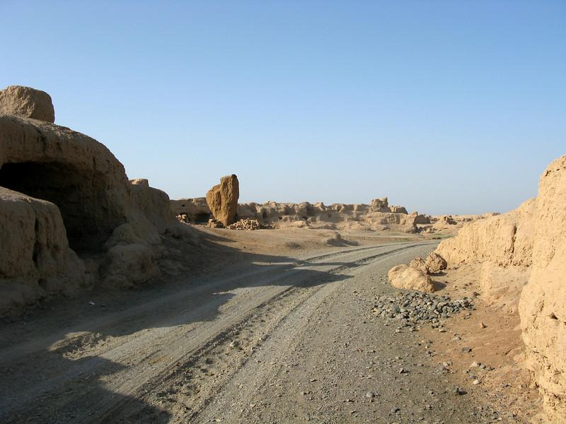 Trail inside the ruins of Gaochang