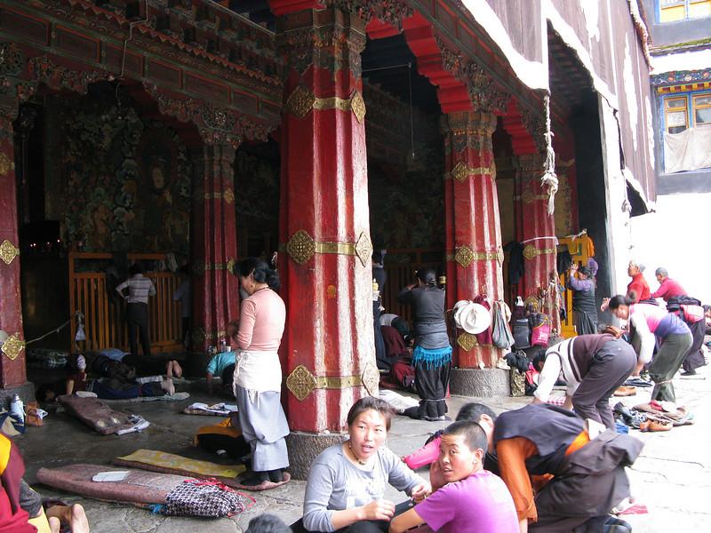 Outisde the Jokhang Temple - Lhasa Tibet