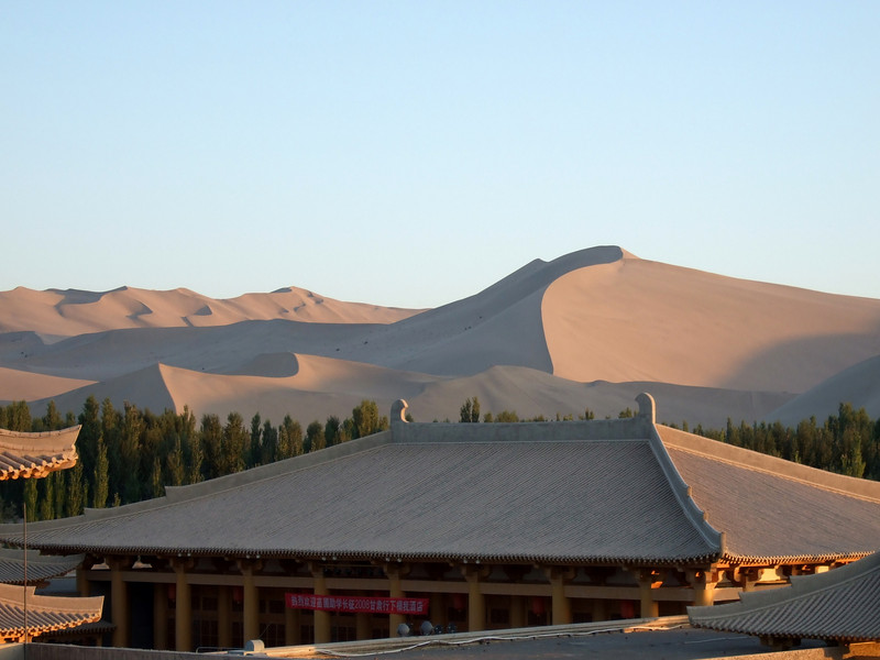 Sand Dunes from the Roof of the Dunhuang Silk Road Hotel