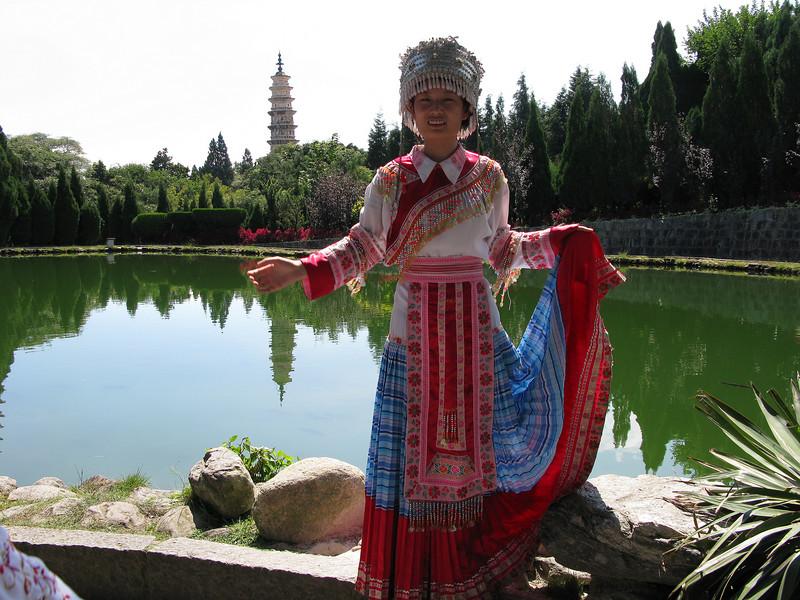 Bai Minority Costume at the Three Pagodas - Dali