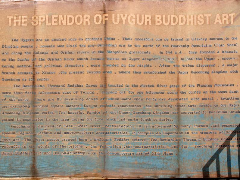 Uygur Buddist Art Caves