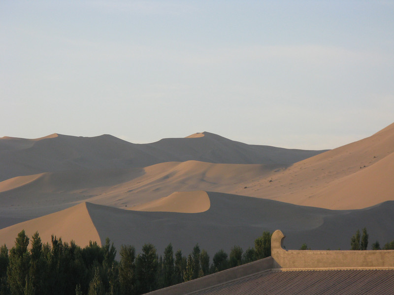Sunrise at the Dunhuang Silk Road Hotel