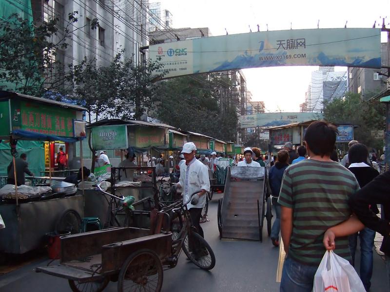 Night Market setting up - Urumqi